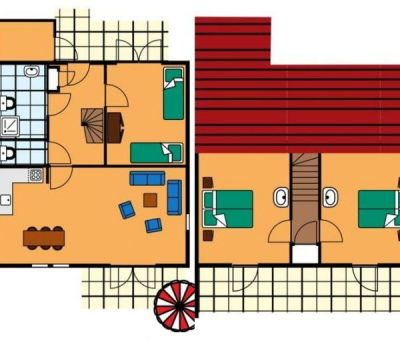 Vakantiehuis Renesse: Aangepaste bungalow type SAM voor 6-personen
