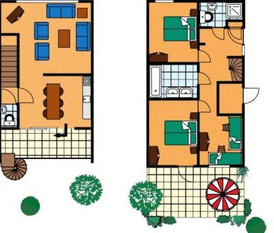 Vakantiehuis Kamperland: Bungalow type BE 8-personen
