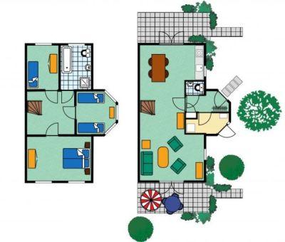 Vakantiehuis Kamperland: villa type VT 5-personen