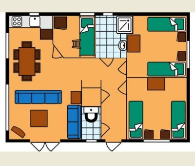 Vakantiewoningen huren in Mierlo, Noord Brabant, Nederland   vakantiehuisje voor 6 personen