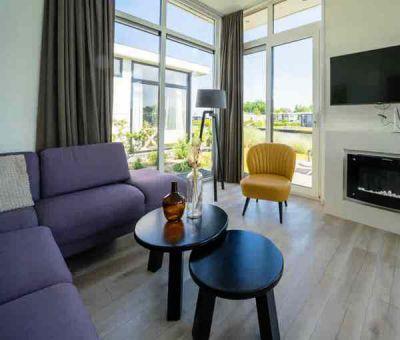 Vakantiehuis Nunspeet: Chalet type Pavilion Waterfront 6-personen