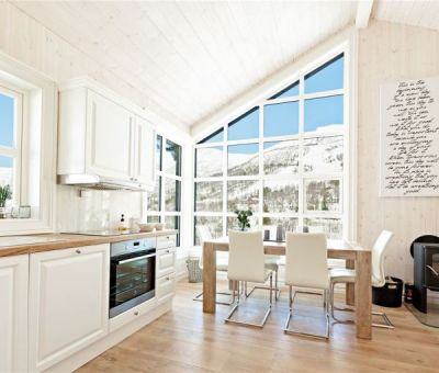 Bungalows huren op de Strandafjellet, Stranda, Geiranger, More og Romsdal, Noorwegen | luxe bungalow voor 7 personen te huur