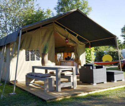Safaritenten te huur op Vakantiepark De Luttenberg, Salland, Overijssel, Nederland   vakantiehuisje voor 5 personen
